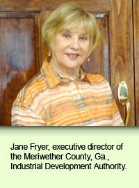 Jane Fryer, executive director of the Meriwether County, Ga., Industrial Development Authority.