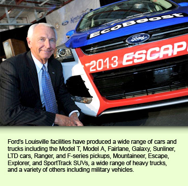 Ford's Louisville facilities have produced a wide range of cars and trucks including the Model T, Model A, Fairlane, Galaxy, Sunliner, LTD cars, Ranger, and F-series pickups, Mountaineer, Escape, Explorer, and SportTrack SUVs, a wide range of heavy trucks, and a variety of others including military vehicles.