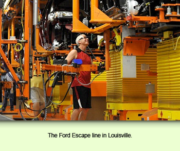 The Ford Escape line in Louisville.