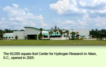 The 60,000-square-foot Center for Hydrogen Research in Aiken, S.C., opened in 2005.