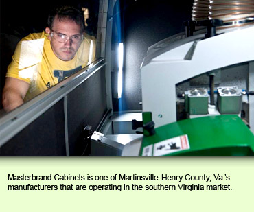 Masterbrand Cabinets is one of Martinsville-Henry County, Va.'s manufacturers that are operating in the southern Virginia market.