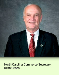 North Carolina Commerce Secretary Keith Crisco.