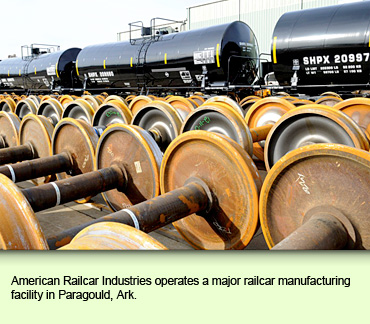 American Railcar Industries operates a major railcar manufacturing facility in Paragould, Ark.