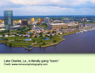 Lake Charles, La., is literally going boom.