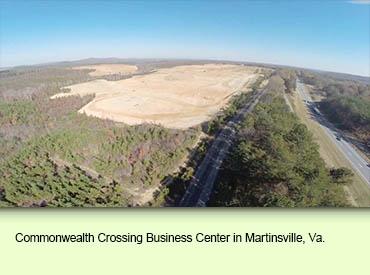 Commonwealth Crossing Business Center in Martinsville, Va.