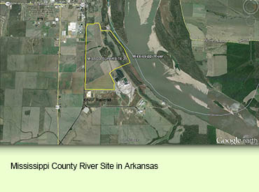 Mississippi County River Site in Arkansas