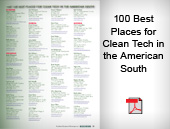 100 Best Places for Clean Tech in the American South