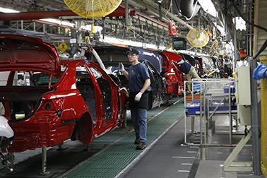 Six of the 19 automotive assembly plants in the Southern Auto Corridor are Japanese-owned. Pictured is the Toyota plant in Georgetown, Ky.