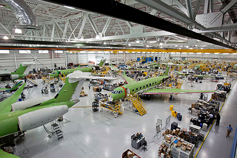 Gulfstream Aerospace's G650 ultra-long-range business jets are manufactured in a plant at its headquarters in Savannah, Ga.