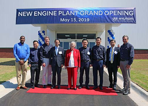 Alabama Governor Kay Ivey joined Hyundai Motor Manufacturing Alabama in a celebration of the grand opening of HMMA's cylinder head machining plant.