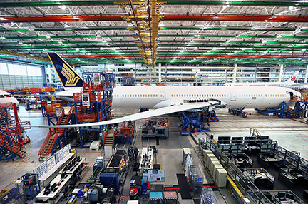 Boeing has assembled its 787 jetliner in Everett, Wash., and North Charleston, S.C. However, the company announced in September it is consolidating 787 Dreamliner assembly to North Charleston.