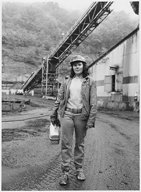 In 1979, Linda King said working as a roof bolter's helper at the Bullitt Mine in Big Stone Gap, Va., was more challenging and better paying than her previous job in a garment factory.  Photograph by Kenneth Murray